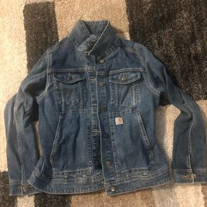 Carhartt Women's Medium Stonewash Denim Jacket